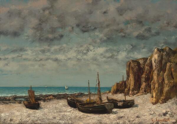 Boats on a Beach, Etretat