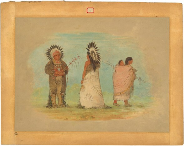 Two Ottoe Chiefs and a Woman