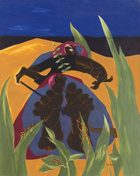 Jacob Lawrence, Daybreak - A Time to Rest, 1967