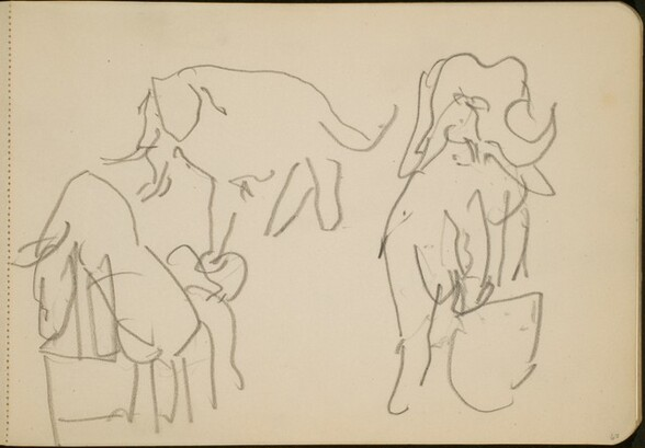 Zirkusnummer mit Elefanten (Circus Act with Elephants) [p. 67]