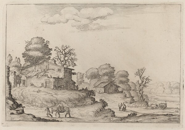 Rustic Landscape with Peasants and Horses