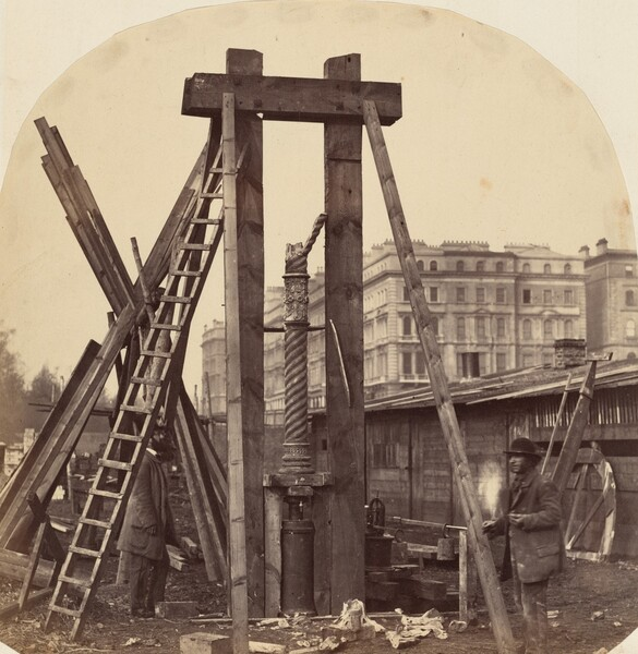Construction of the 1862 International Exhibition at South Kensington