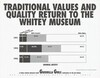 Traditional Values and Quality Return to the Whitey Museum