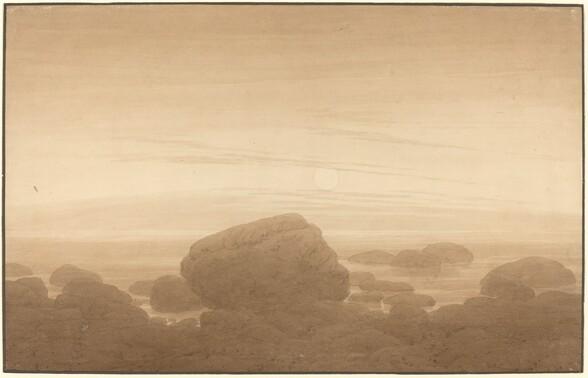 Moonrise on an Empty Shore