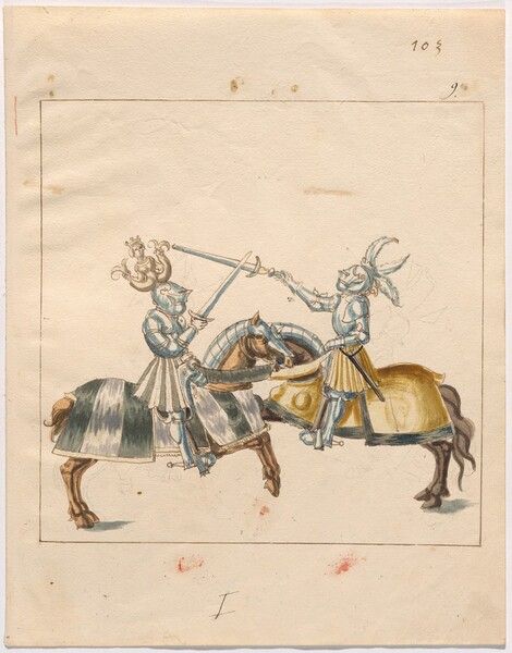 Freydal, The Book of Jousts and Tournament of Emperor Maximilian I: Combats on Horseback (Jousts)(Volume II): Plate 92