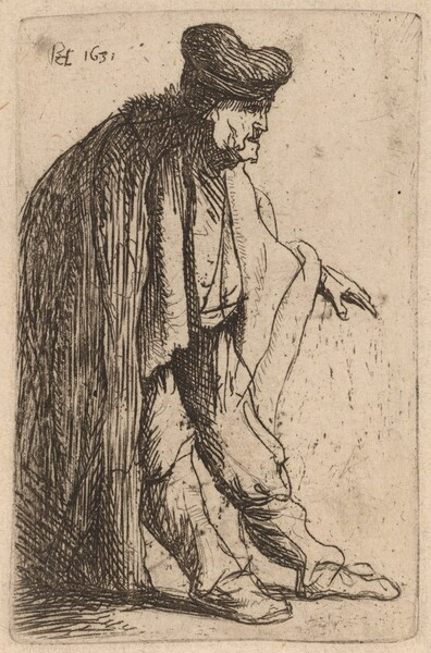 Beggar with His Left Hand Extended