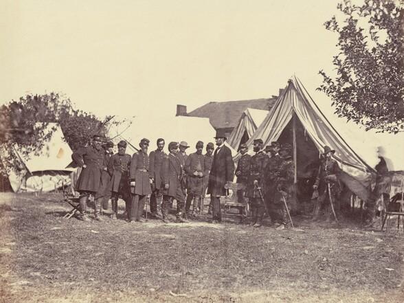 President Lincoln on Battlefield of Antietam, Maryland