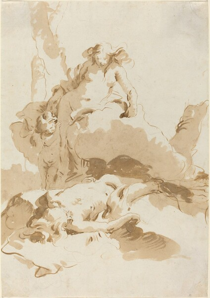 Venus and Cupid Discovering the Body of Adonis