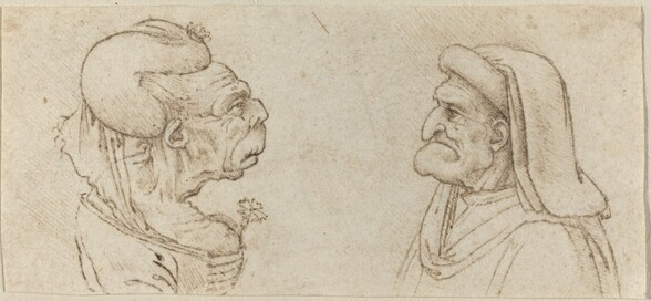 Two Grotesque Heads
