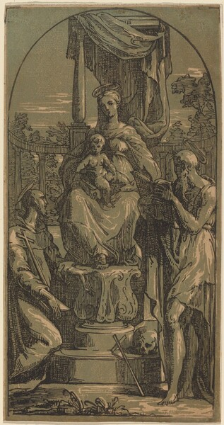 Madonna and Child Enthroned, Saint Jerome and Saint Francis