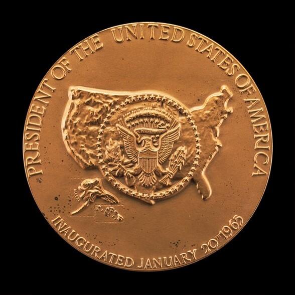 Lyndon Baines Johnson Inaugural Medal [reverse]