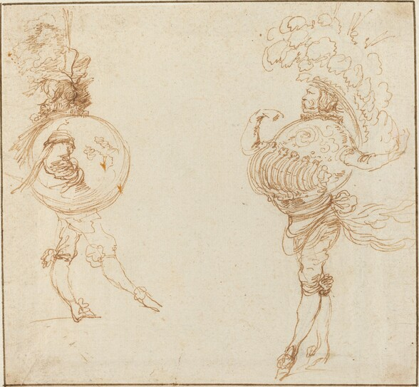 Two Men in Masquerade Costumes: The Earth and a Parade Helmet