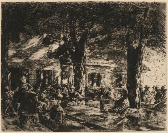 A Tavern Garden in Rosenheim