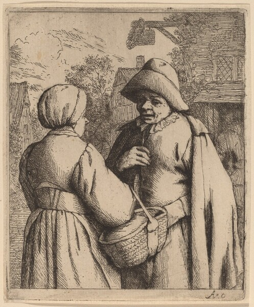 Man and Woman Conversing