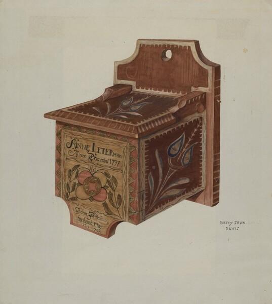 Pennsylvania German Hanging Salt Box