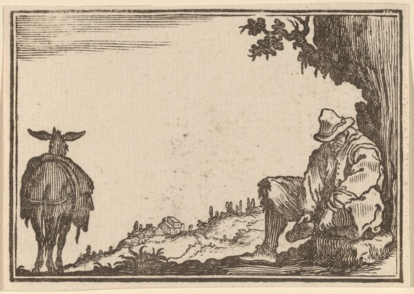 Peasant Removing His Shoe