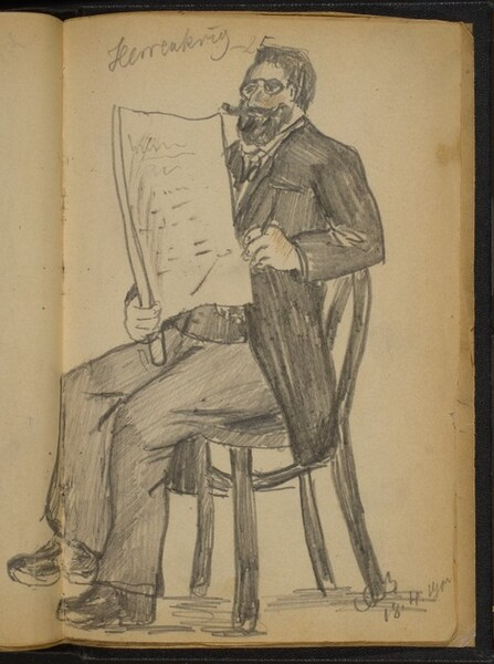 Seated Man Reading a Paper