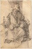 An Oriental Ruler Seated on His Throne