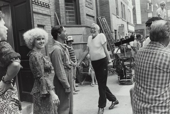 John Huston, Annie set, Burbank