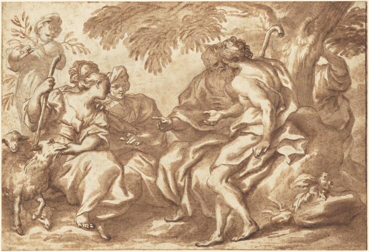 Domenico Piola, The Meeting of Jacob and Rachel, 1670s1670s