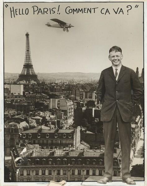 """Charles Lindbergh, """"Hello Paris!, Comment Ca Va?"""""""