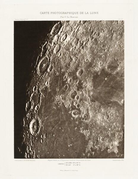 Carte photographique de la lune, planche I.A (Photographic Chart of the Moon, plate I.A)
