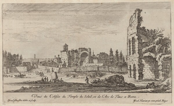 Veuë du Colisée du Temple du Soleil, et de l