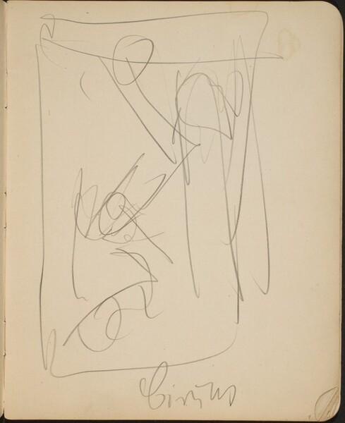 Figürliche Kompositionsskizze mit Bezeichung (Figural Sketch with Inscription) [p. 9]