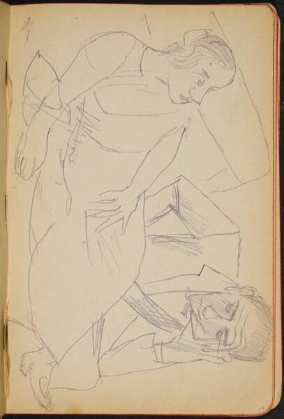 liegende Frau und sitzeder Mann (Reclining Female and Seated Male) [p. 19]