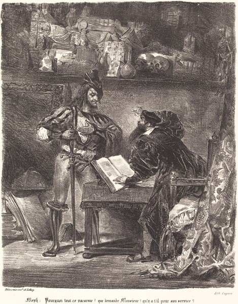 Mephisto Appears to Faust