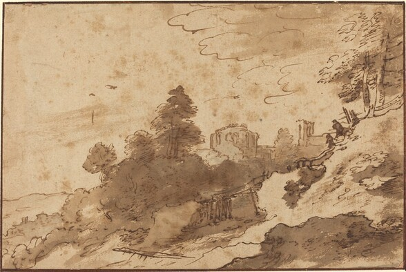 Landscape with Bridge and Ruins in Background