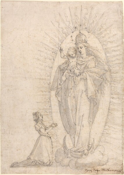 Madonna and Child Appearing to a Supplicant