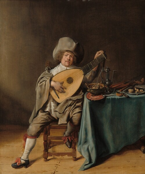 Self-Portrait as a Lute Player