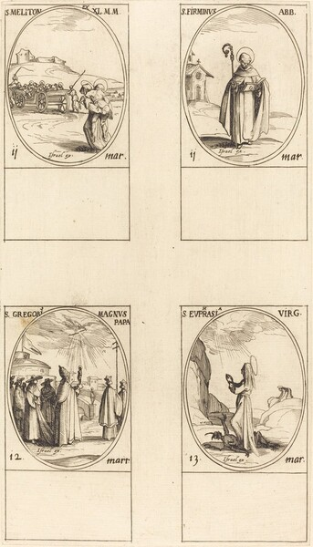 St. Meliton; St. Firminus; St. Gregory the Great; St. Euphrasia
