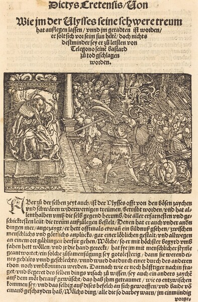 Page from Troianischen Kreig - Ausberg
