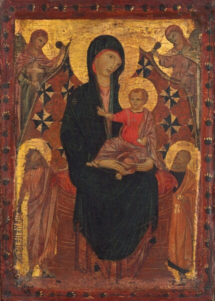 Madonna and Child with Saint John the Baptist, Saint Peter, and Two Angels