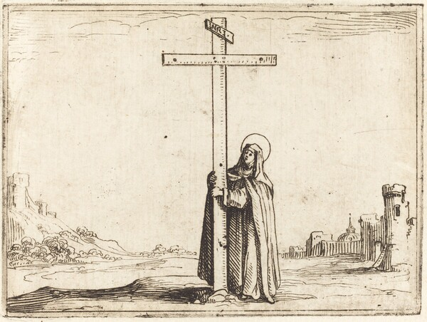 Nun Embracing the Holy Cross
