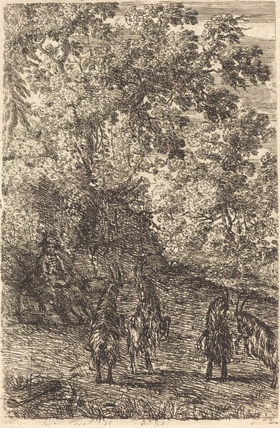 Shepherd with Four Goats (Les quatre chèvres)