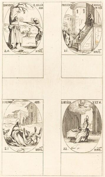 Edmund, King of England, Martyr;  Presentation of the Virgin; St. Columban; St. Cecil