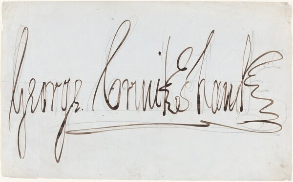 George Cruikshank (decorative signature)
