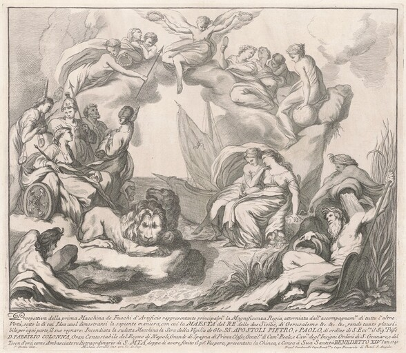 The Prima Macchina for the Chinea of 1741: Allegory of Regal Magnificence
