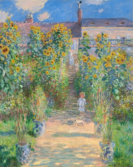 Claude Monet, The Artist's Garden at Vétheuil, 1881