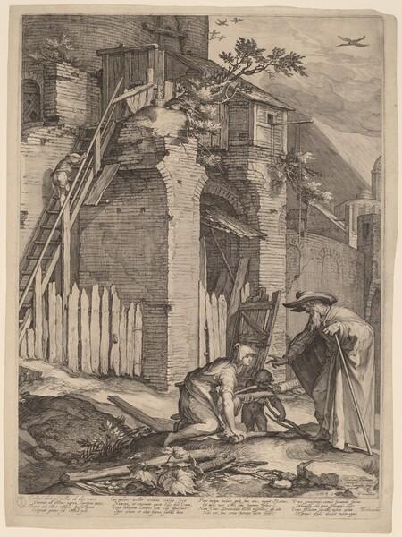 The Prophet Elijah with the Widow of Zarephath