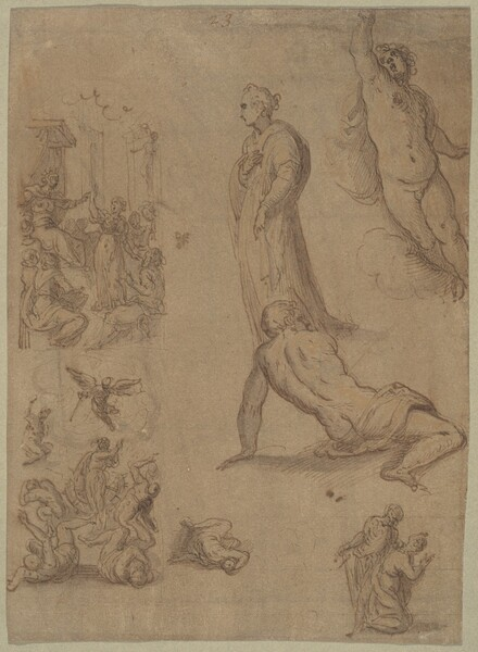 A Sheet of Studies for the Martyrdom of Saint Catherine of Alexandria