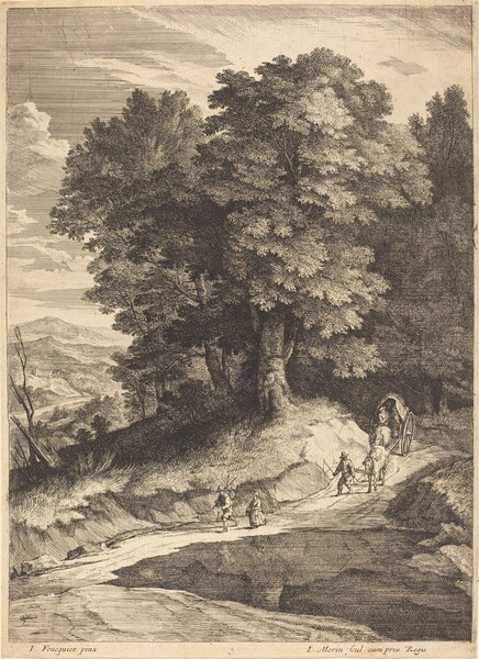 Edge of a Wood with Travelers in a Carriage