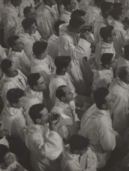 French Croix de Bois Choir Members at a Papal Mass