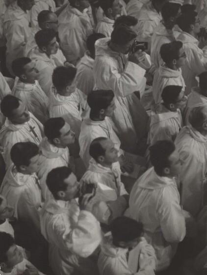 David Seymour (Chim), French Croix de Bois Choir Members at a Papal Mass, 1949