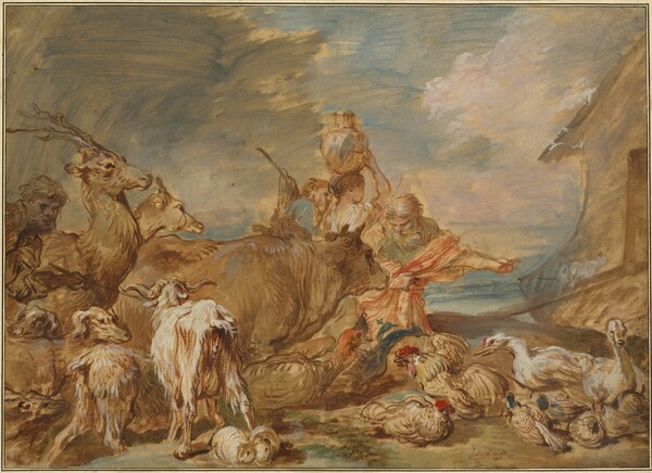 Noah Leading the Animals into the Ark