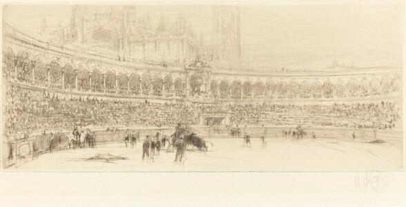 A Bull Fight, Seville
