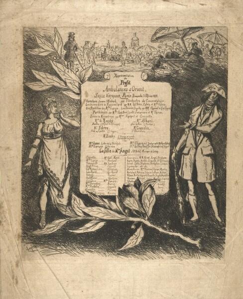 Programme de la représentation du 3 février 1878, salle Ventadour